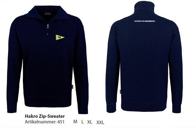 tn Zip Sweatshirt lang blau